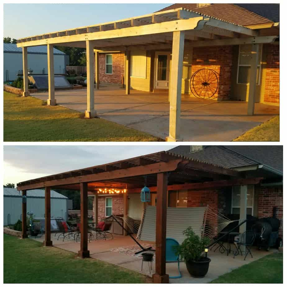 Pergola Stained to improve home value